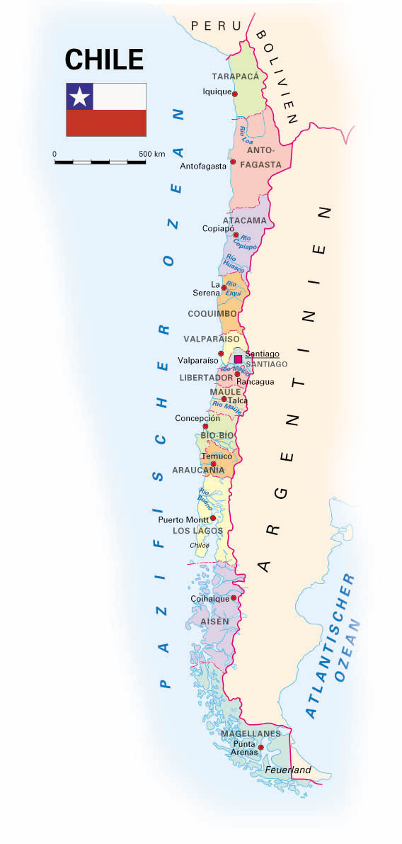Chile Karte
