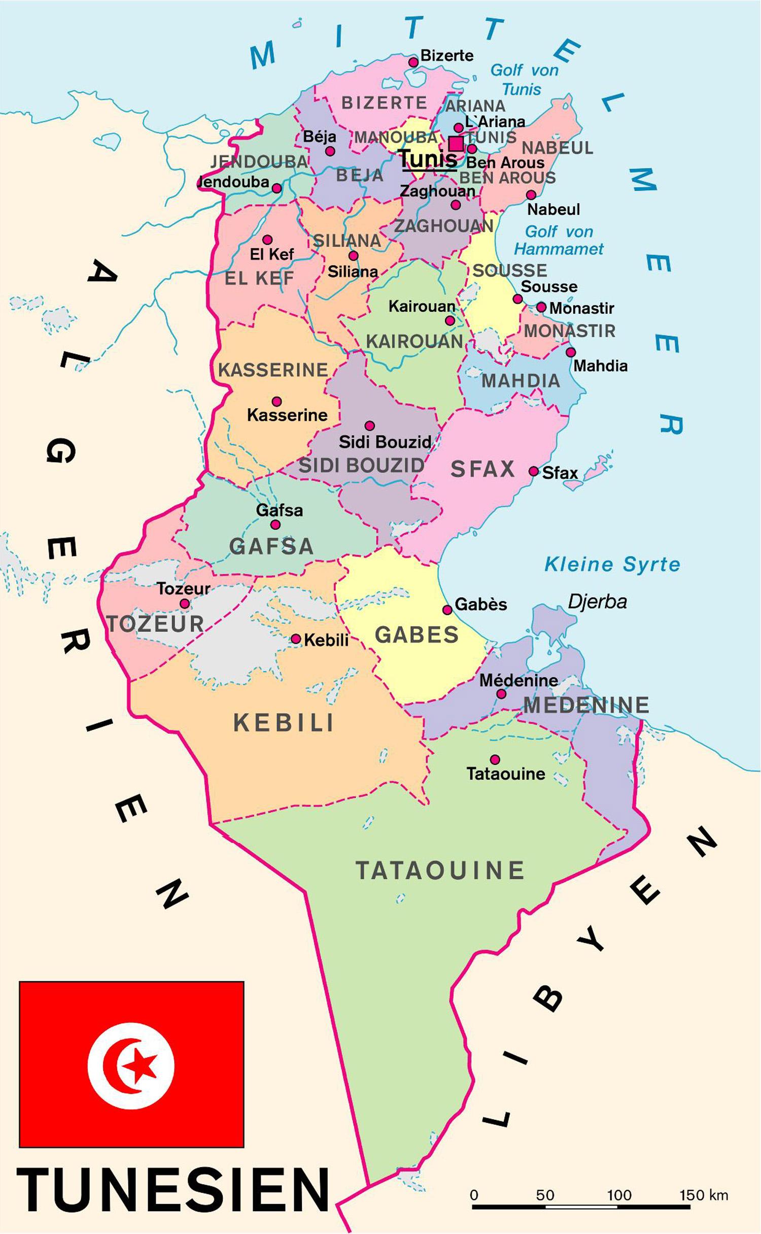 Tunesien Karte.Tunesien Kooperation International Forschung Wissen