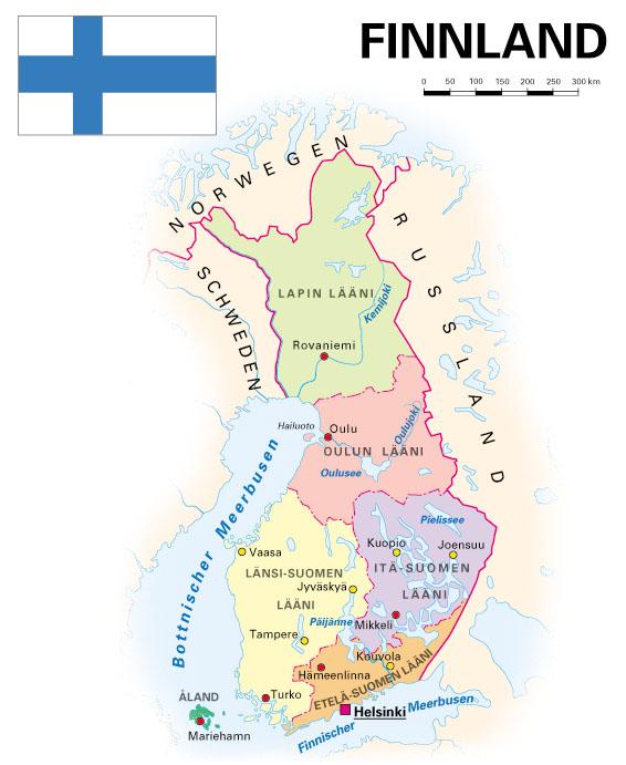 Finnland Karte Regionen.Finnland Kooperation International Forschung Wissen