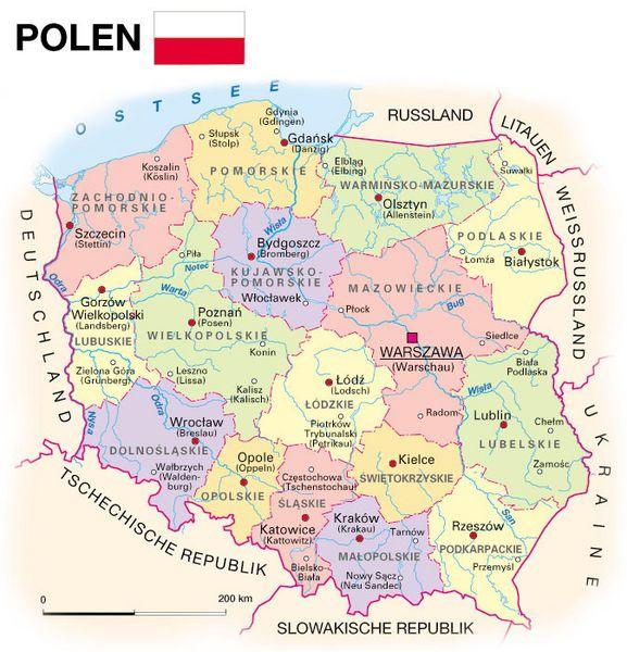 Polen Karte 2019.Allgemeine Landesinformationen Kooperation International