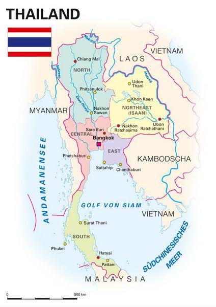 Karte Thailand Kambodscha.Allgemeine Landesinformationen Kooperation International