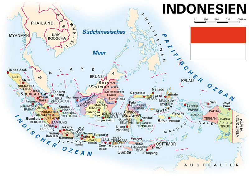 Indonesien Karte.Allgemeine Landesinformationen Kooperation International