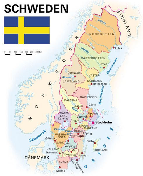 Schweden Karte Regionen.Allgemeine Landesinformationen Kooperation International