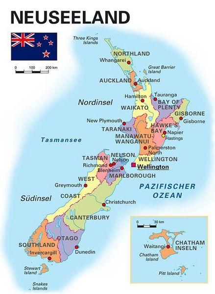 Neuseeland Nordinsel Karte.Allgemeine Landesinformationen Kooperation International