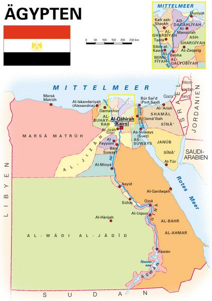 Karte ägypten.Allgemeine Landesinformationen Kooperation International